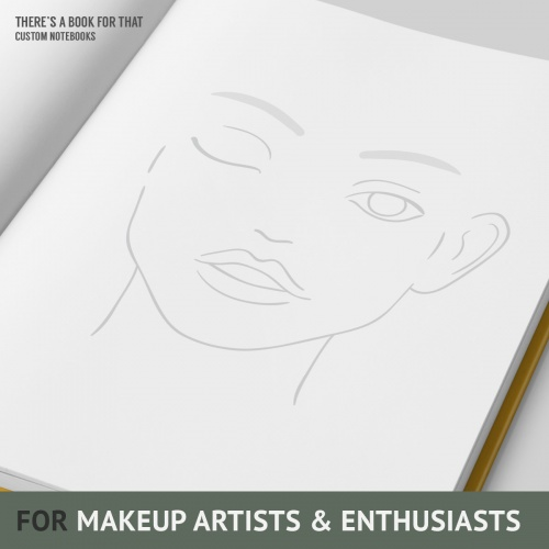 A facecharts notebook supporting your workflow with extensive cover-it-all accompanying documentation (check the gallery). The paper we used will allow you to blend and create the look you want to try – it's durable for cream products while rough enough to hold powders.