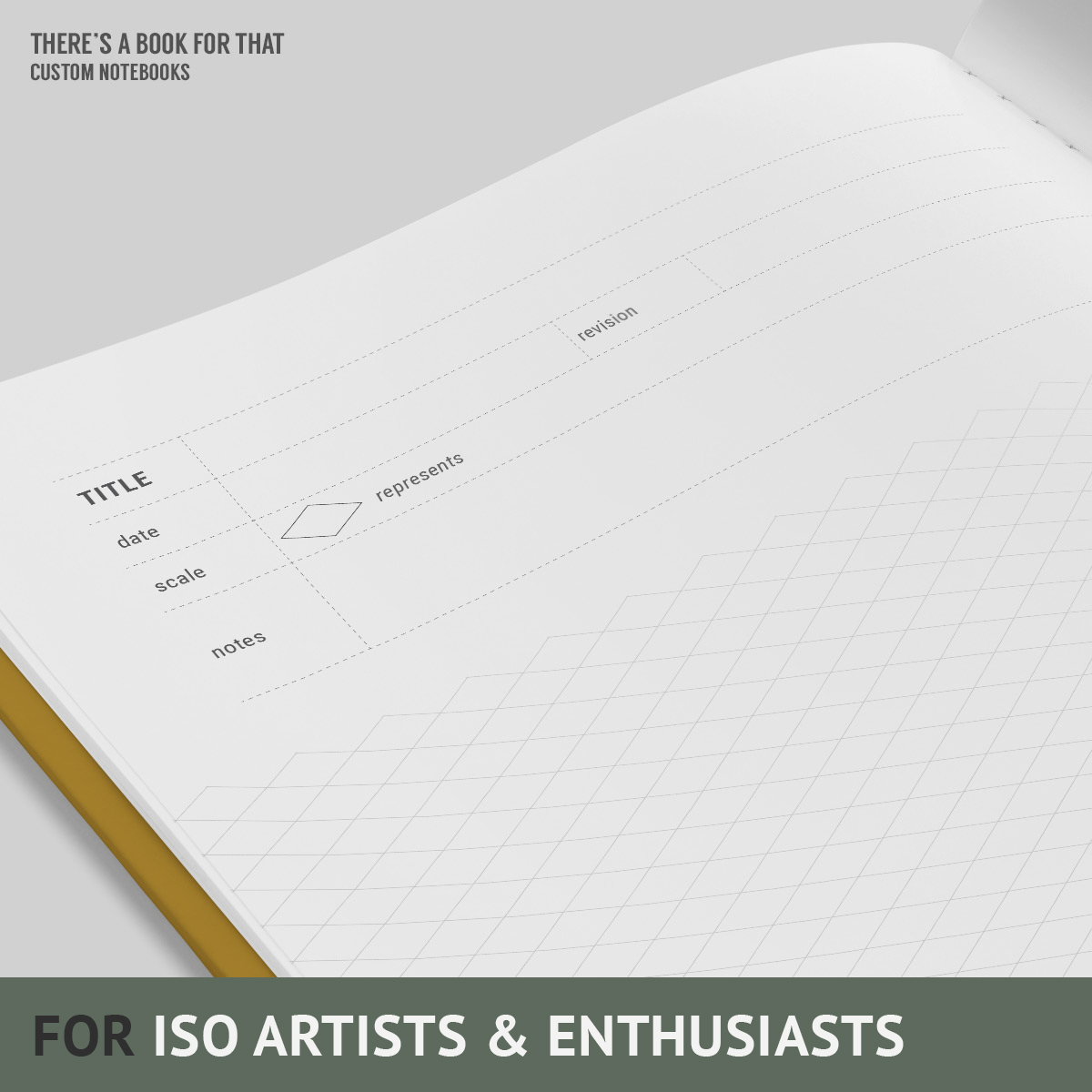 This chic iso grids notebook helps you sketching and working on ideas.