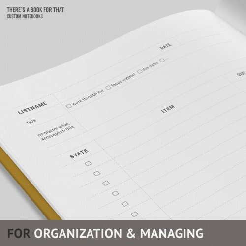 An organizer for your daily life, to do lists and shopping lists. This make you more organised, more efficient. Lists are easy to scan for information… and you always know how much is left.