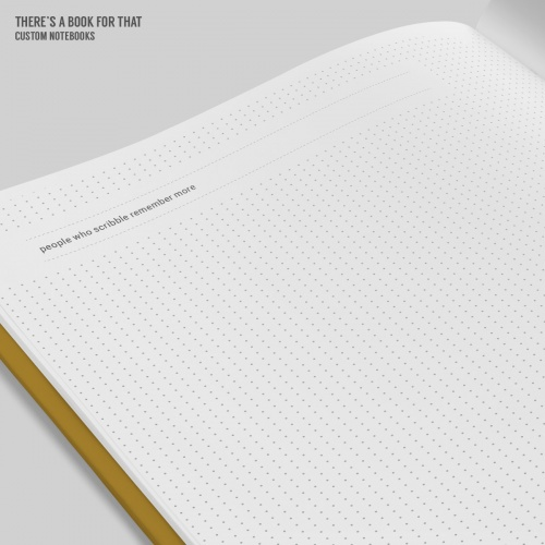 This memos notebook comes with a spread that features a full scribble page on the left side. Use it for sketching stuff or space to go wild during a boring phone call. Up to you.