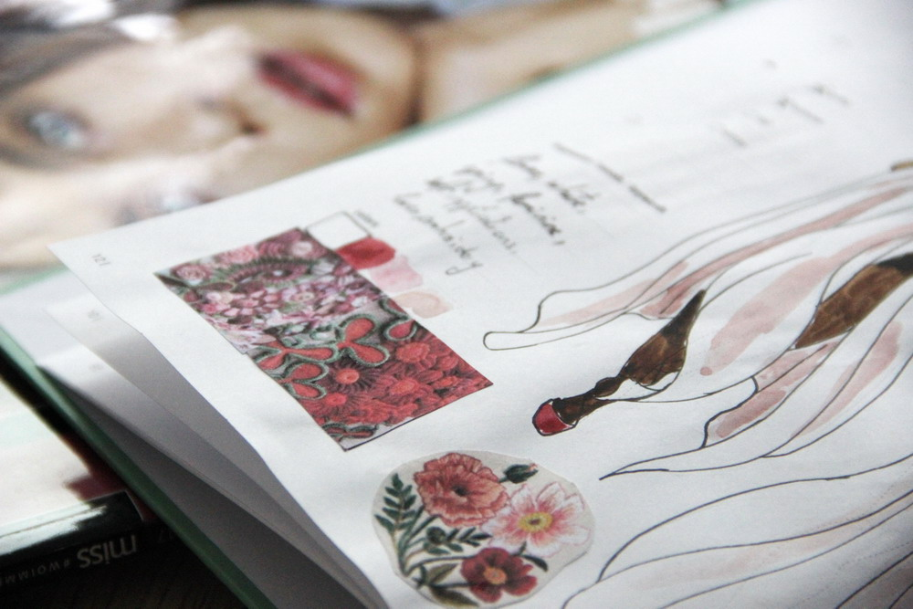 Working with Fashion Design Notebook