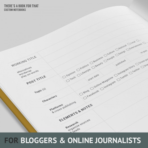 Blogger Notebook