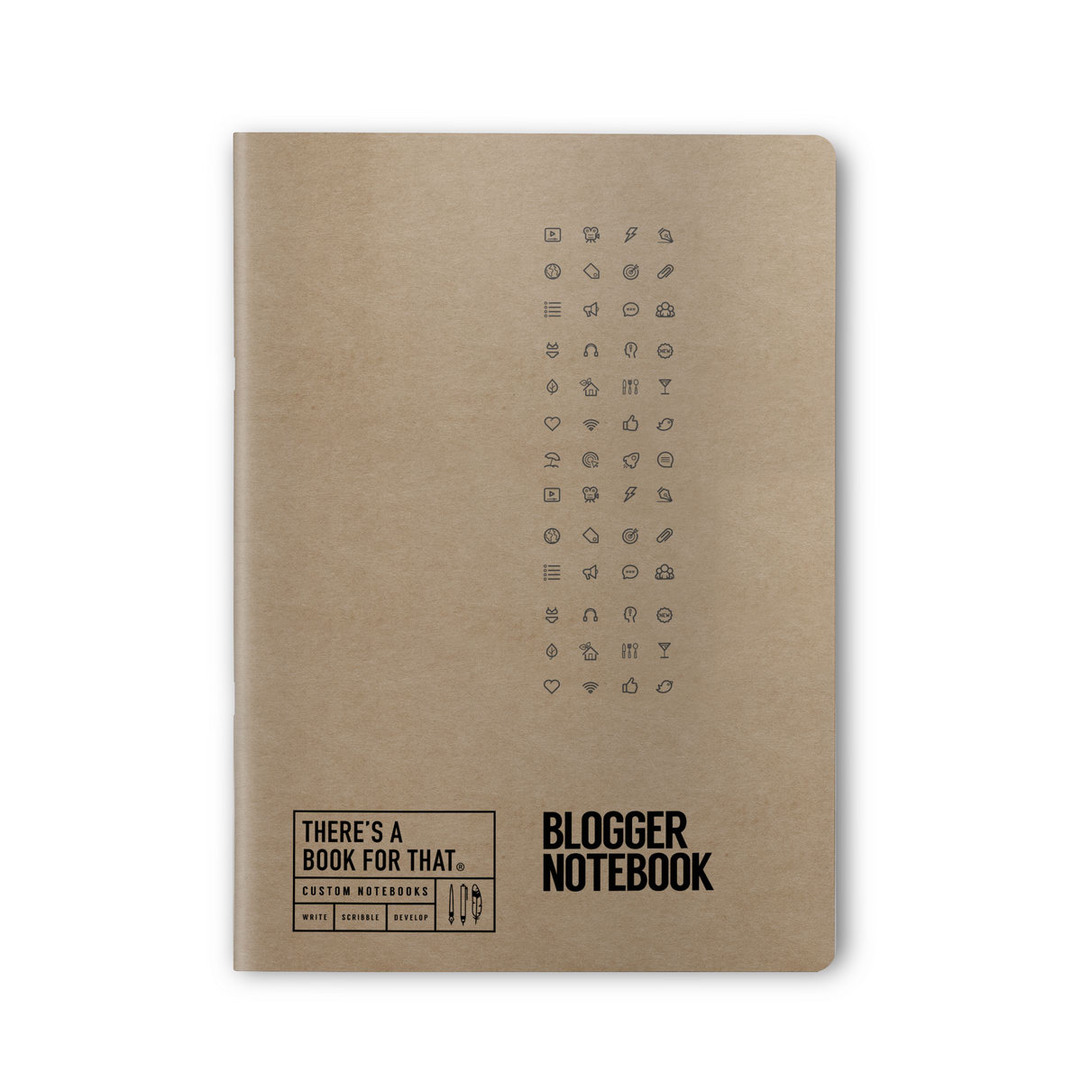 B-107_Blogger Stationery_Notebook_Top