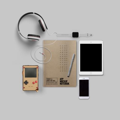B-115_App-Mockup-Notebook_Stationery_Lifestyle