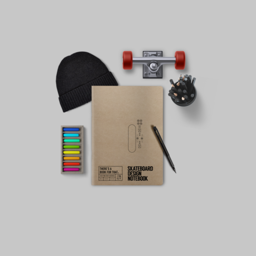 B-116_Skateboard_Design_Stationery_Notebook_Lifestyle