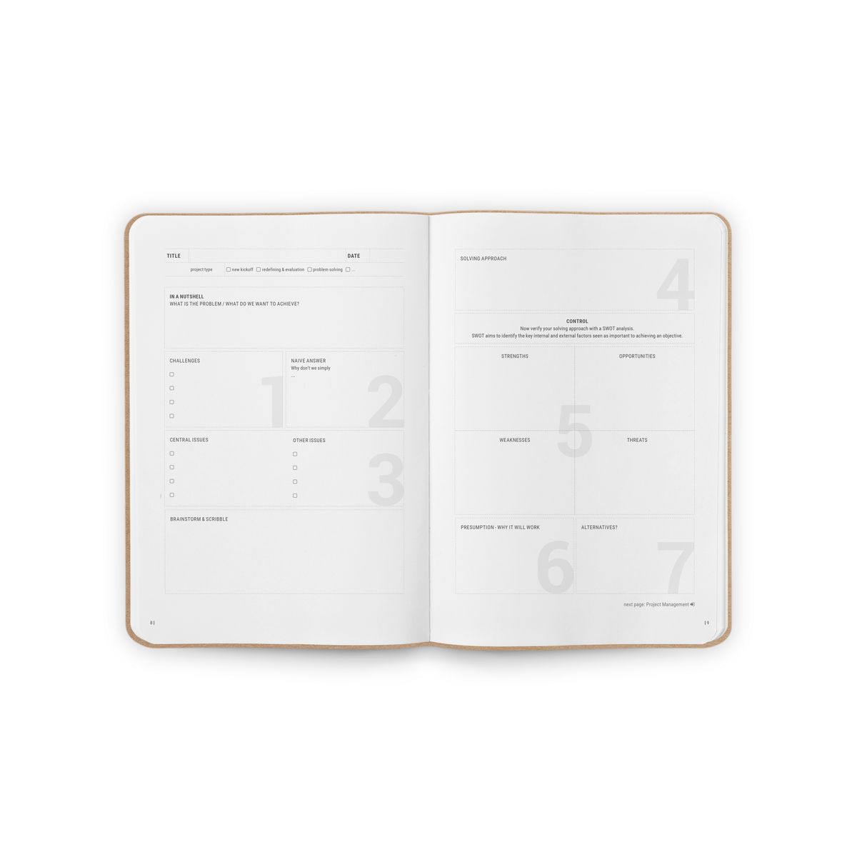 B-118_Projectmanagement_Stationery_Notebook_Spread1